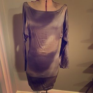 Guess off shoulder silk top size S